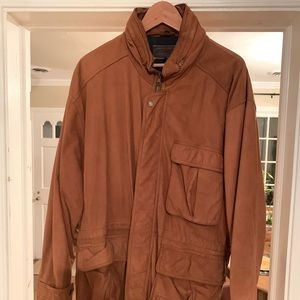 Brooks Brothers Leather Field Coat